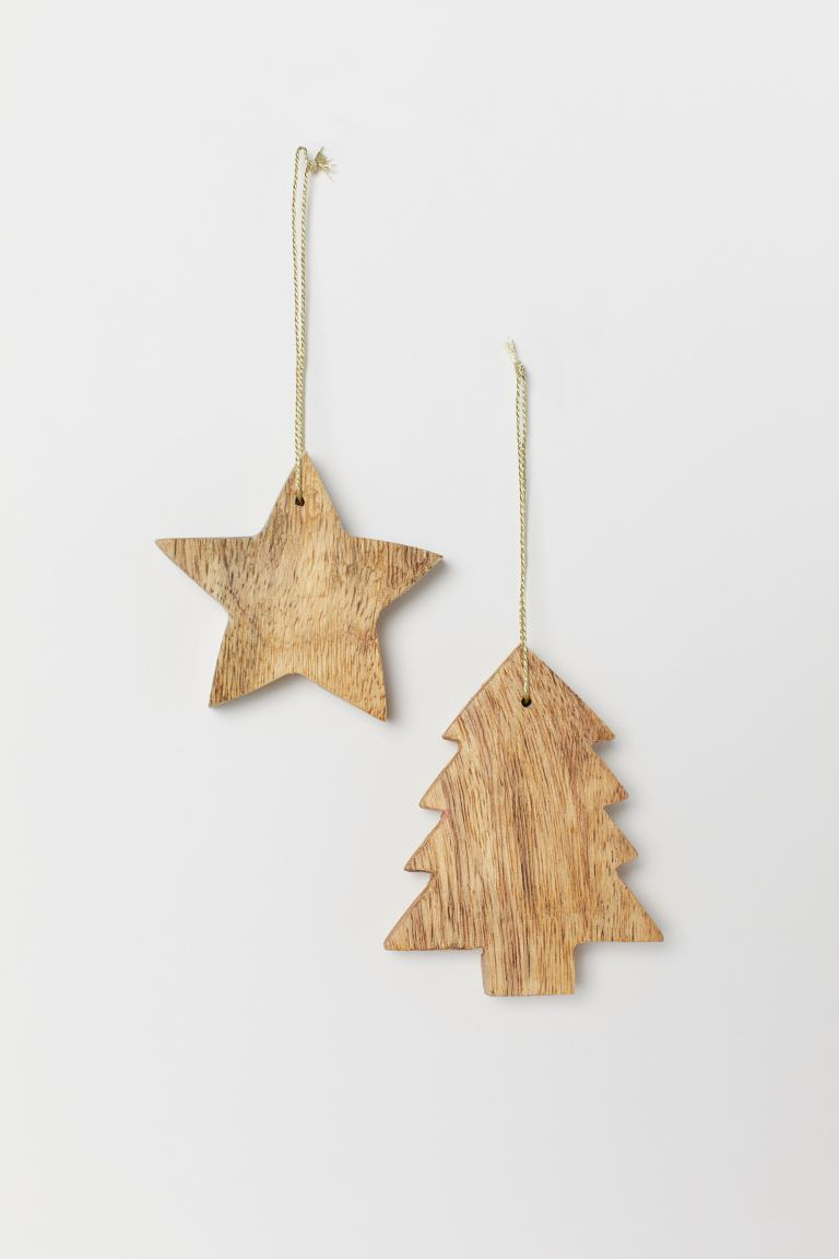 2-pack Christmas decorations - Beige - Home All | H&M GB