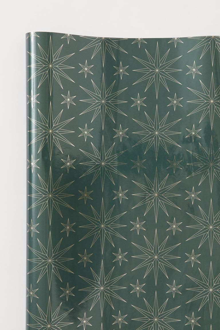 Carta da regalo - Verde scuro/stelle - HOME | H&M IT