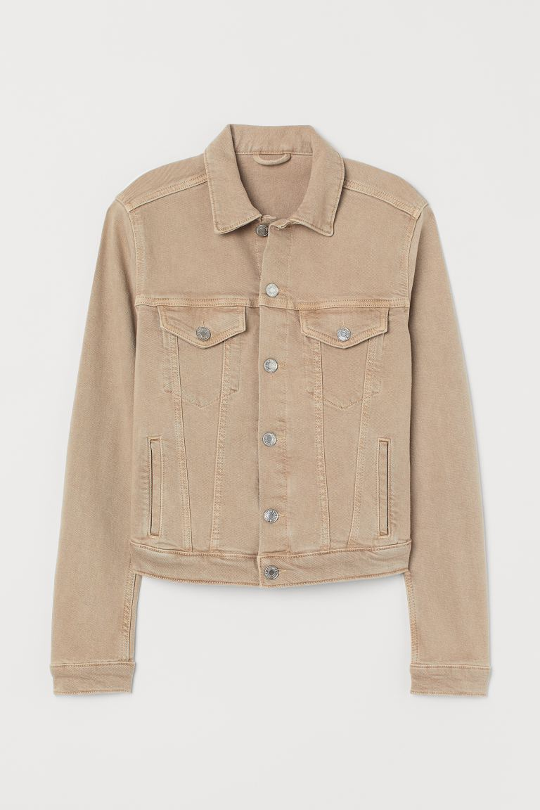 Denim Jacket - Light beige - Ladies | H&M CA