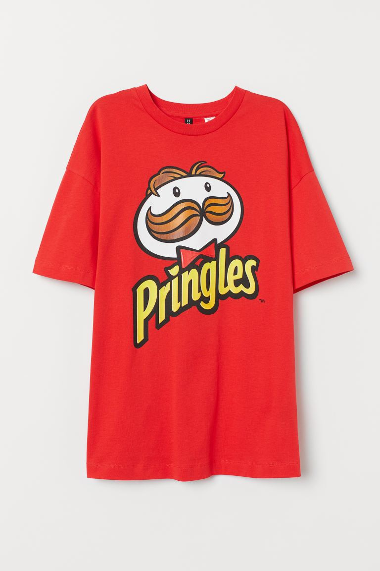 T-Shirt mit Druck - Rot/Pringles - Ladies | H&M AT