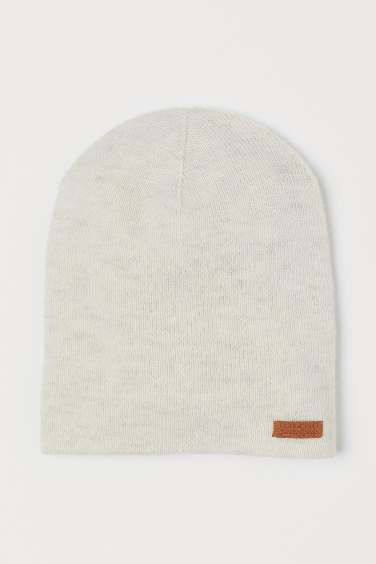 Merino wool hat - Natural white marl - Kids | H&M GB