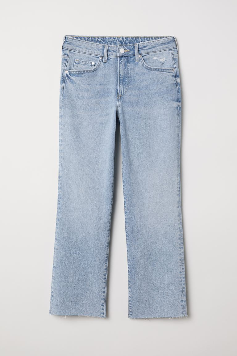 Straight High Ankle Jeans - Light denim blue - Ladies | H&M GB
