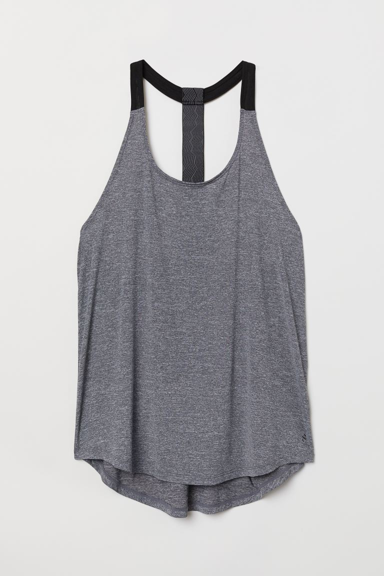 Sports vest top - Grey marl - Ladies | H&M GB