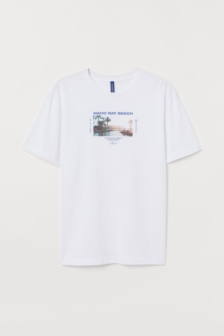 T Shirt Avec Motif Blanc Maho Bay
