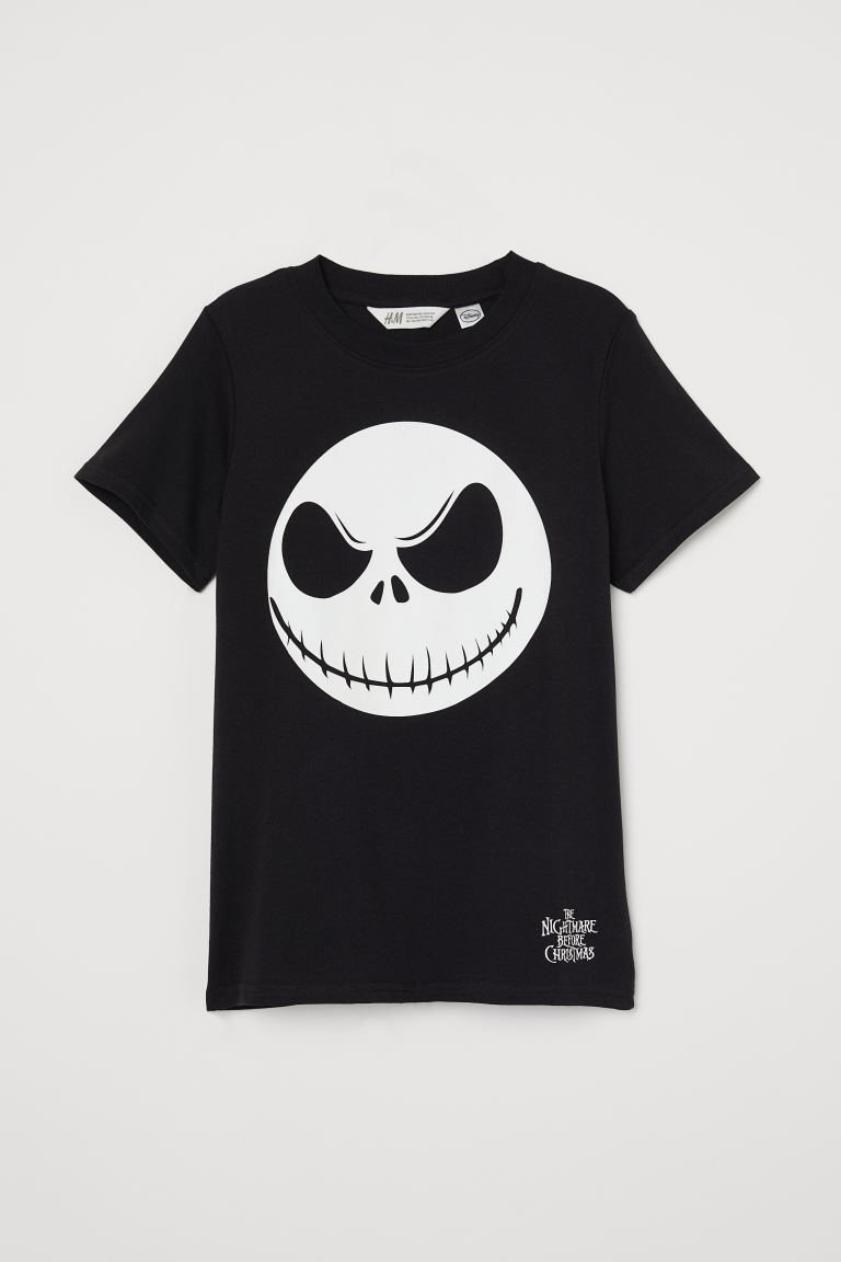 Camiseta con motivo - Negro/Glow-in-the-dark - NIÑOS | H&M ES