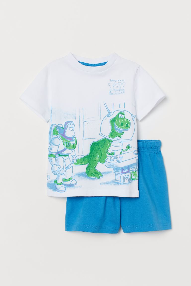 Printed pyjamas - White/Toy Story -  | H&M