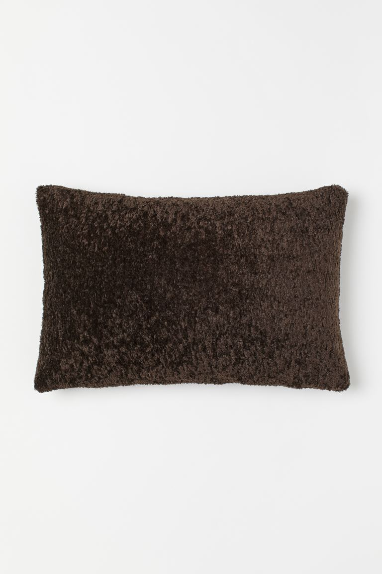 Pile cushion cover - Dark brown - Home All | H&M IE