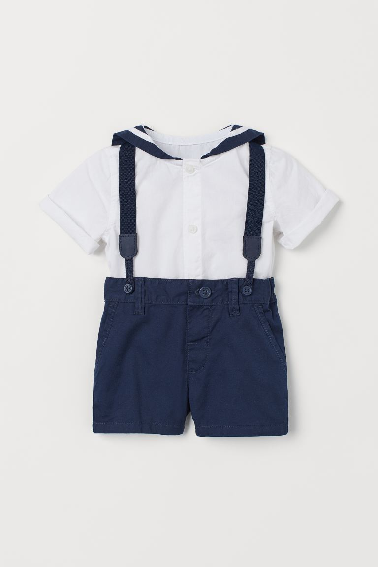 2-piece Sailor Set - Dark blue - Kids | H&M CA