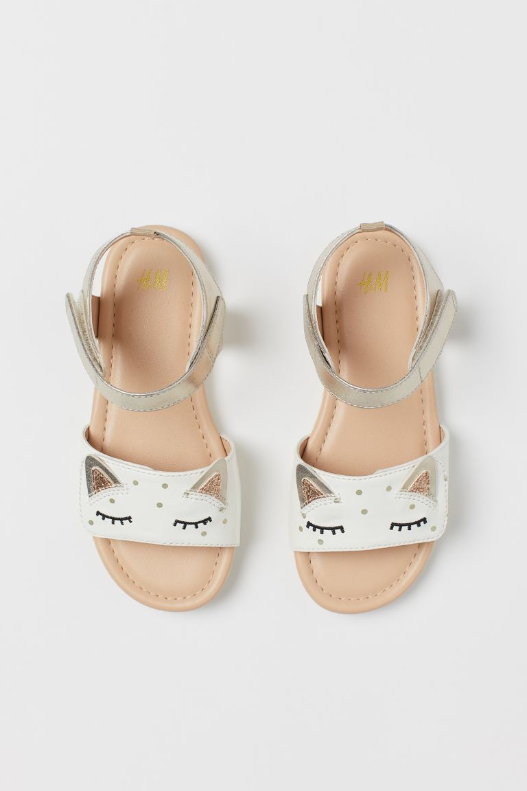 Sandals - Gold-coloured/Cat - Kids | H&M