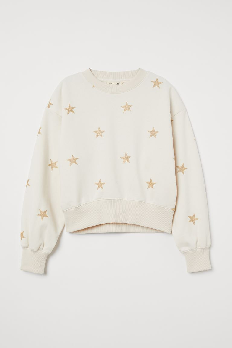 Sweatshirt - Natural white/Stars - Kids | H&M IN