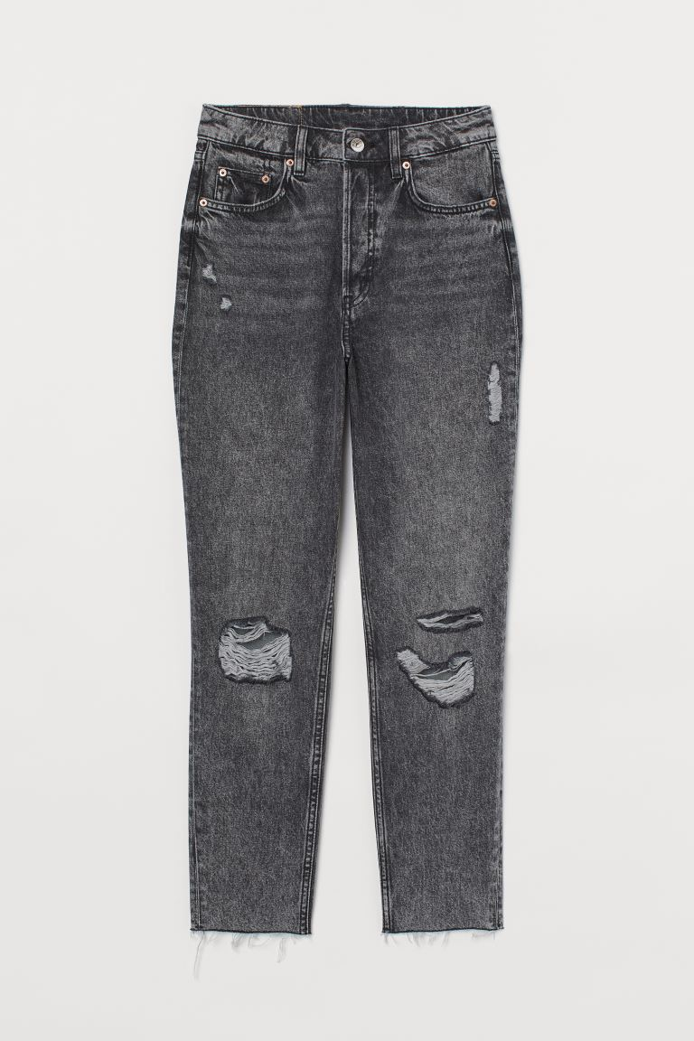 Slim Mom High Ankle Jeans - Dark denim grey - Ladies | H&M GB