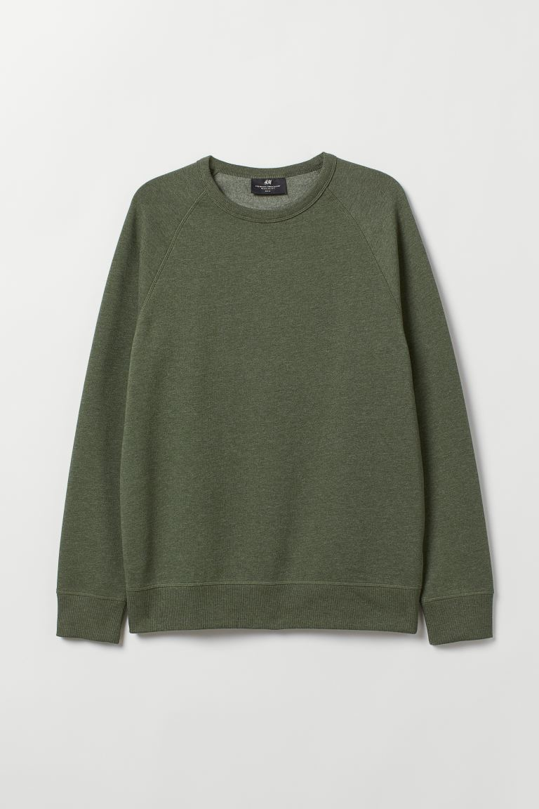 Sudadera Regular Fit - Verde caqui oscuro - Men | H&M US