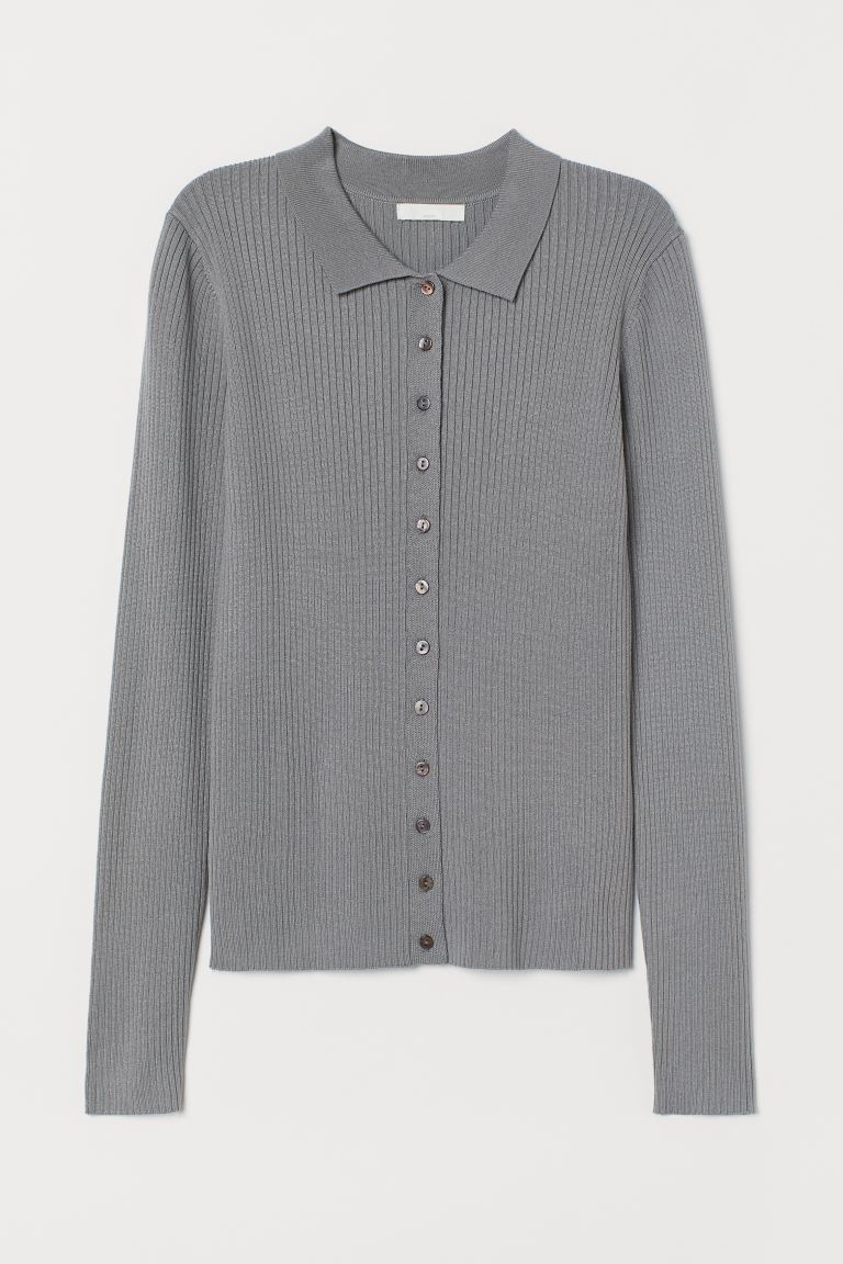 Feinstrick-Cardigan - Grau - Ladies | H&M AT