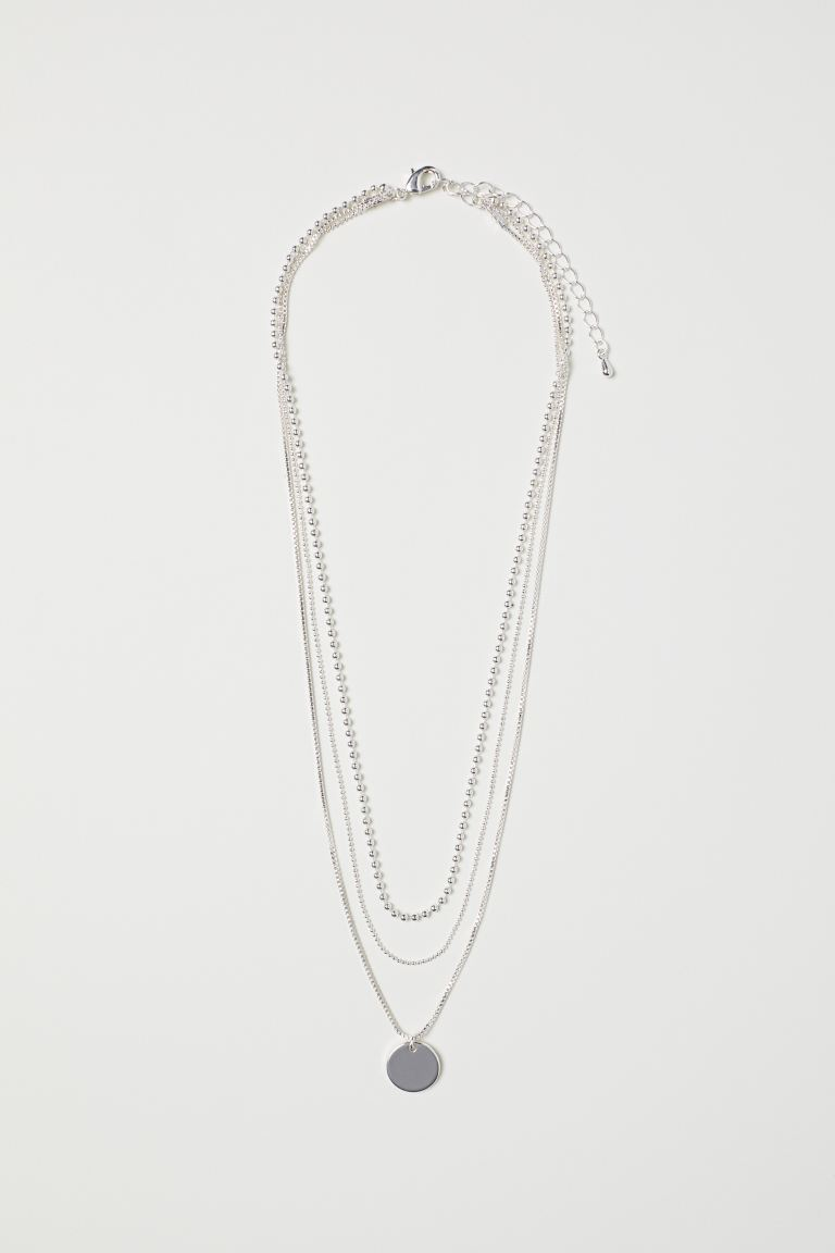 Three-strand necklace - Silver - Ladies | H&M GB
