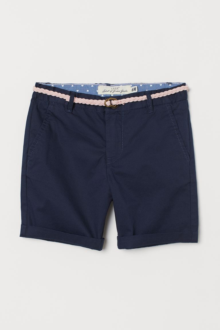 Shorts con cintura - Blu scuro/rosa - BAMBINO | H&M IT