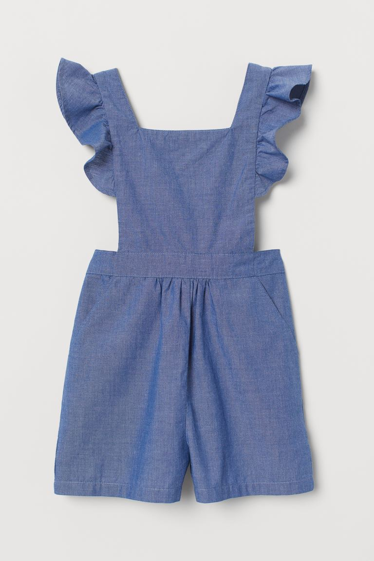 Jumpsuit with Ruffles - Blue/chambray - Kids | H&M US