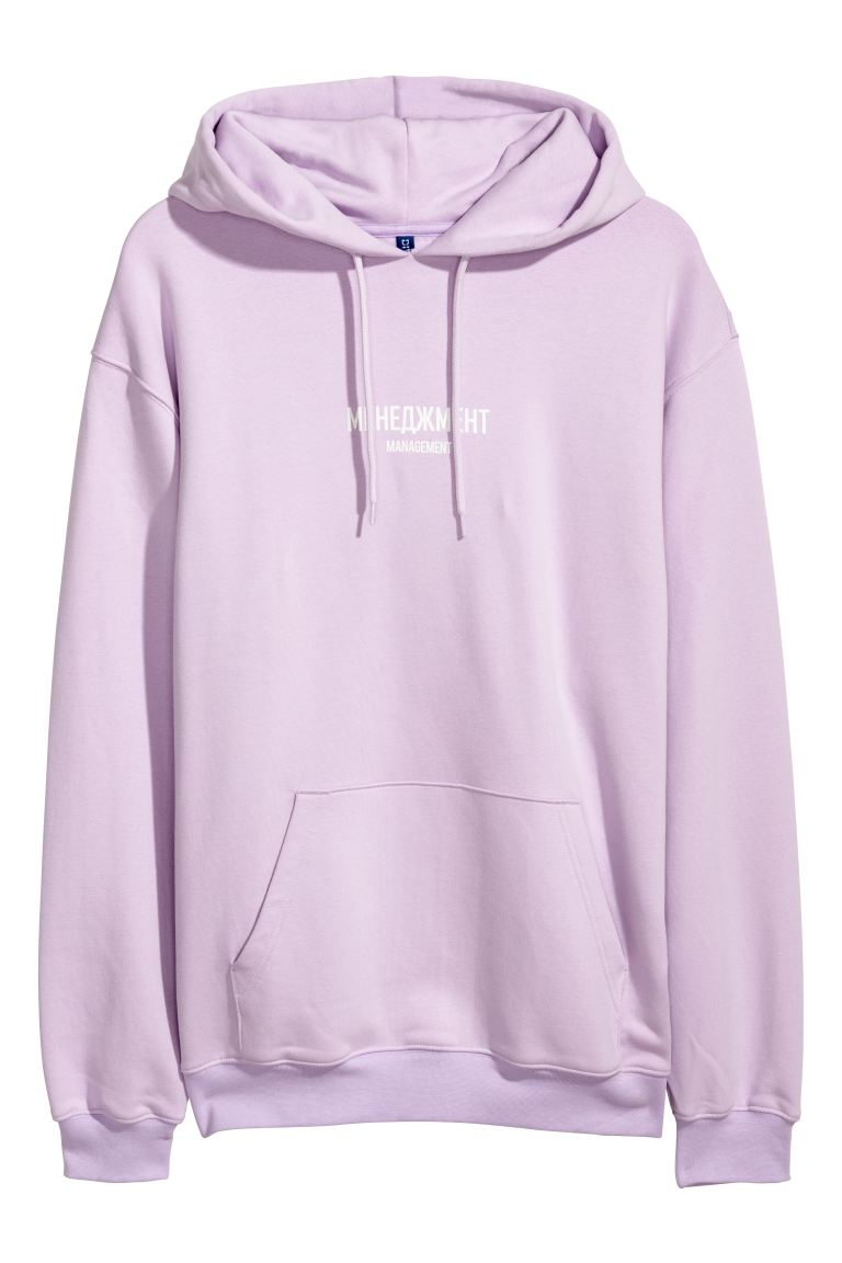 hoodie mauve homme