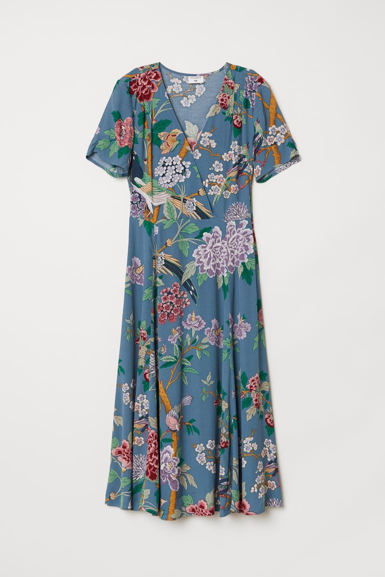 Patterned Dress - Blue/floral - Ladies | H&M US