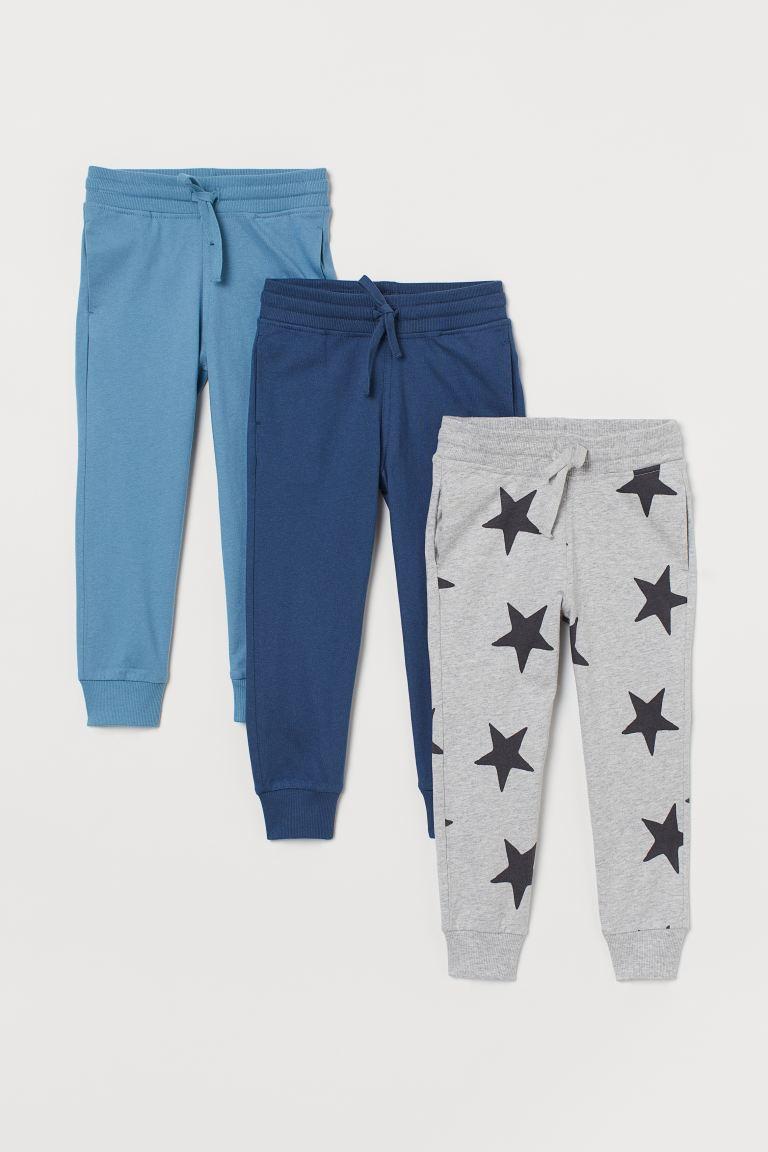 3-pack joggers - Blue/Stars - Kids | H&M GB