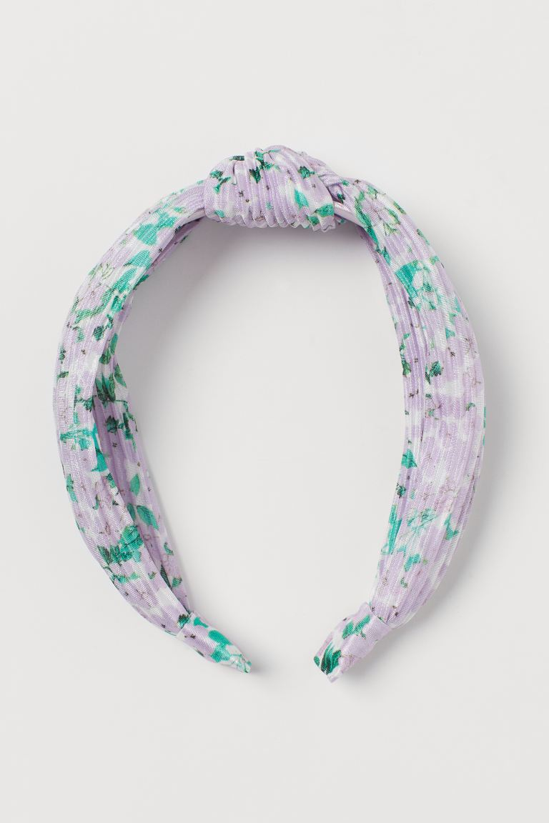 Hairband with Knot Detail - Light purple/patterned - Ladies | H&M US