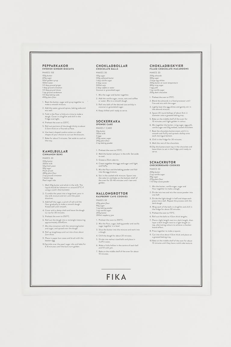 Poster - Bianco/Fika - HOME | H&M IT