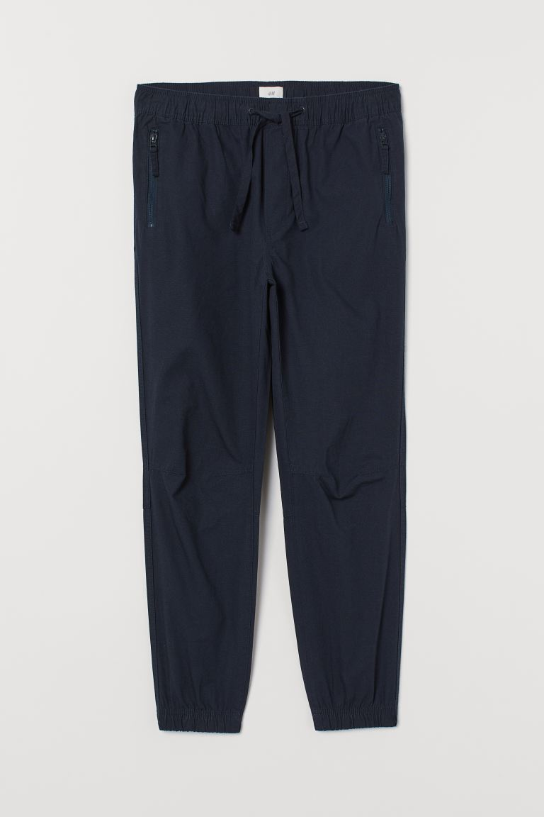 Joggers in cotone - Blu scuro - UOMO | H&M IT