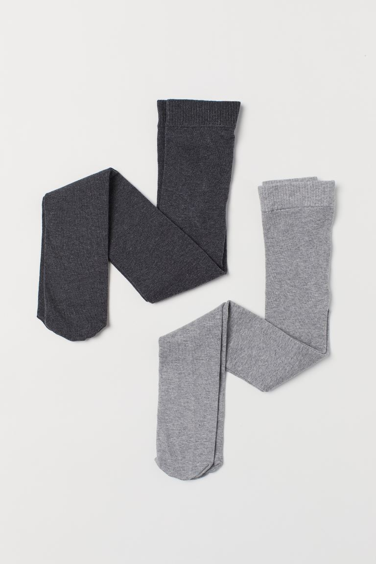 Collants, lot de 2 - Gris clair -  | H&M CH