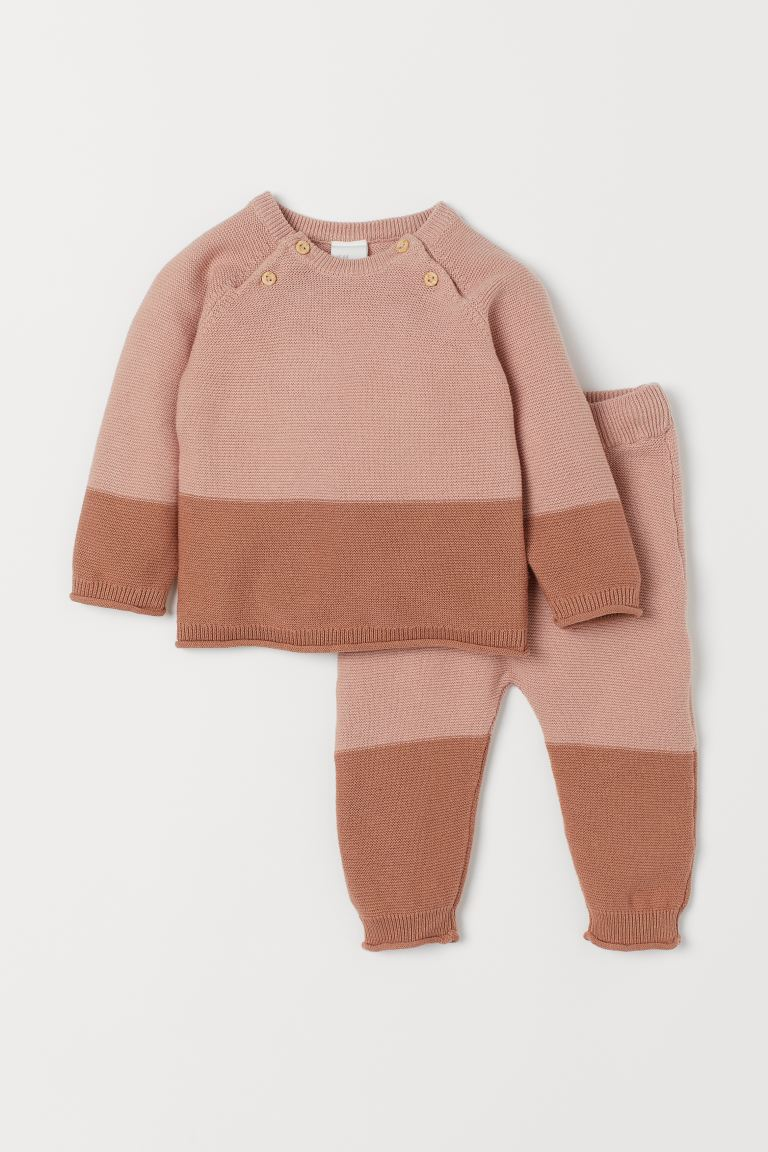 Jumper and trousers - Powder pink - Kids | H&M