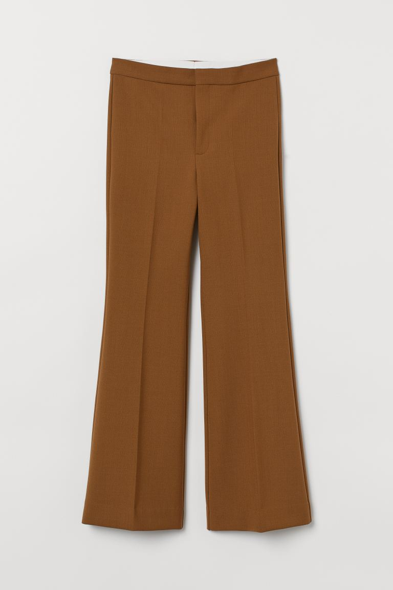 Tailored wool-blend trousers - Camel -  | H&M GB