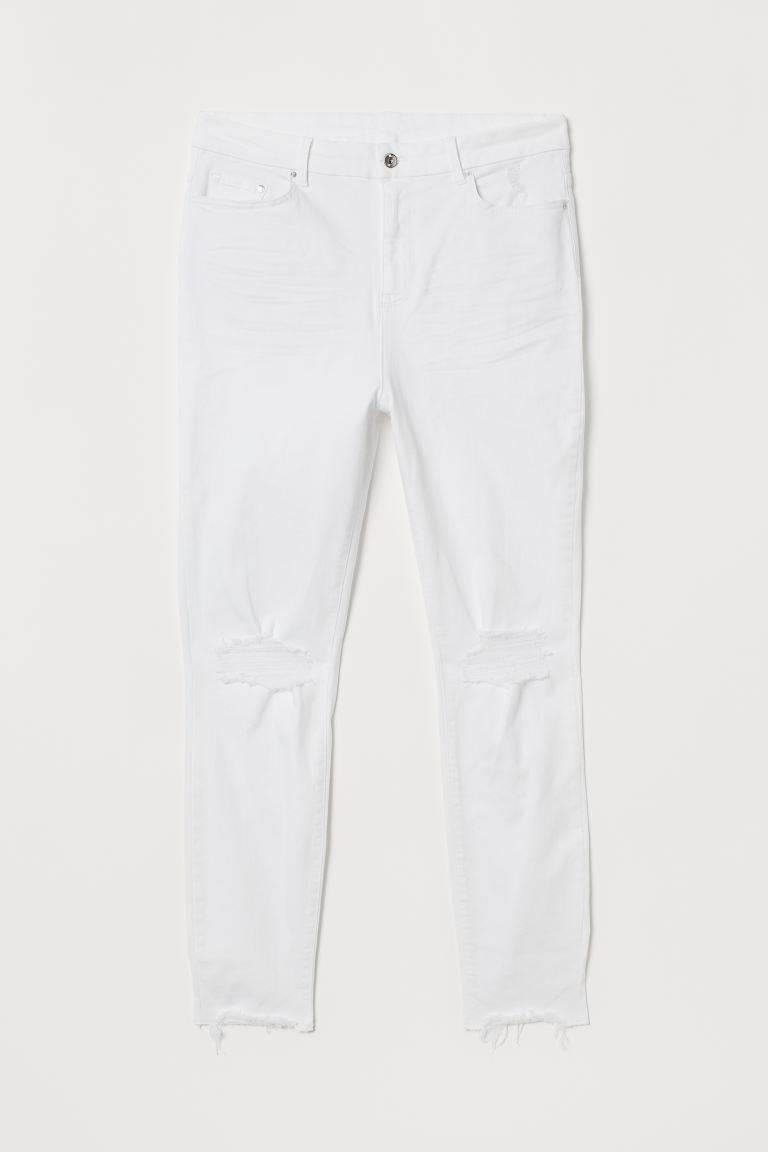 H&M+ Embrace Shape Ankle Jeans - White - Ladies | H&M US
