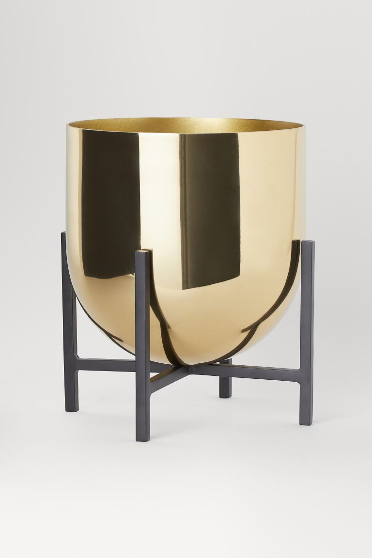 Plant Pot on Pedestal - Gold-colored - Home All | H&M US