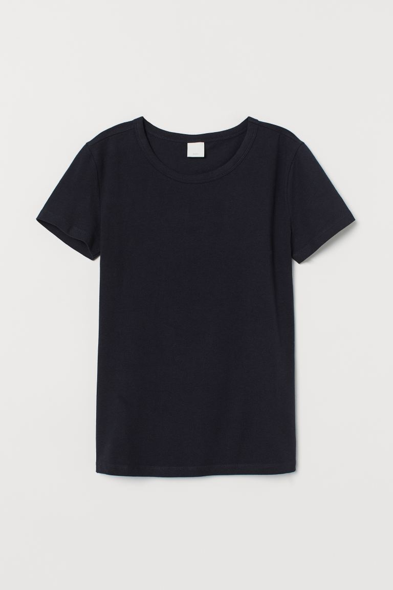 Jersey top - Dark blue - Ladies | H&M