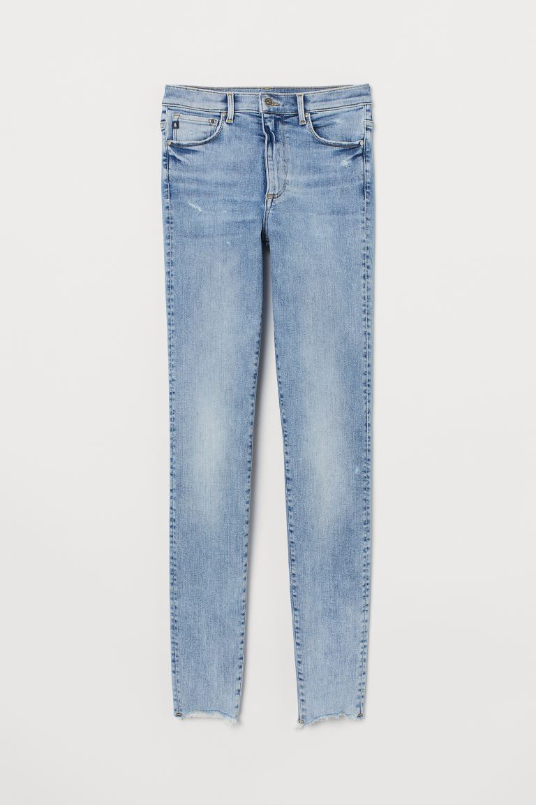 Shaping Skinny High Jeans - Light denim blue/Washed - Ladies | H&M IN