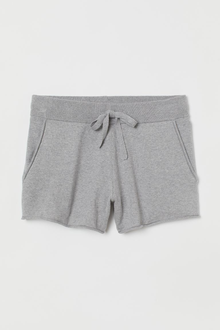 Shorts aus Kaschmirmix - Hellgraumeliert - Ladies | H&M AT 4