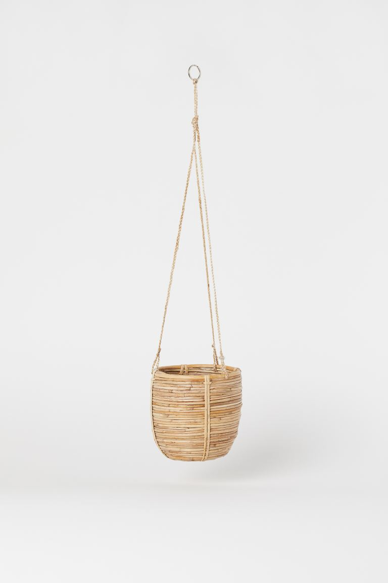 Rattan Hanging Basket - Beige - Home All | H&M US