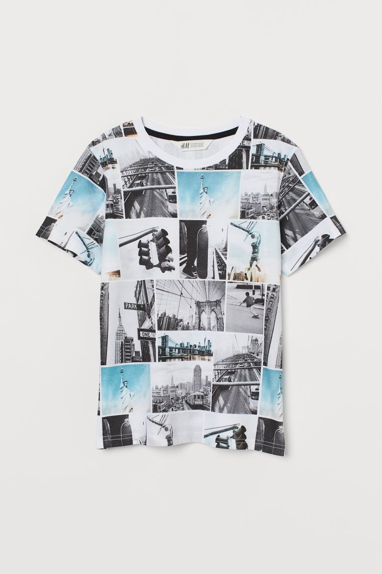 Graphic T-shirt - White/New York - Kids | H&M US