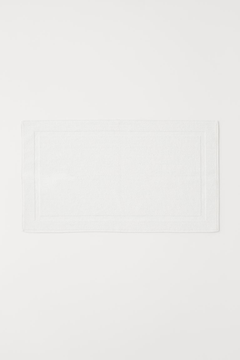 Grand tapis de bain - Blanc - Home All | H&M FR