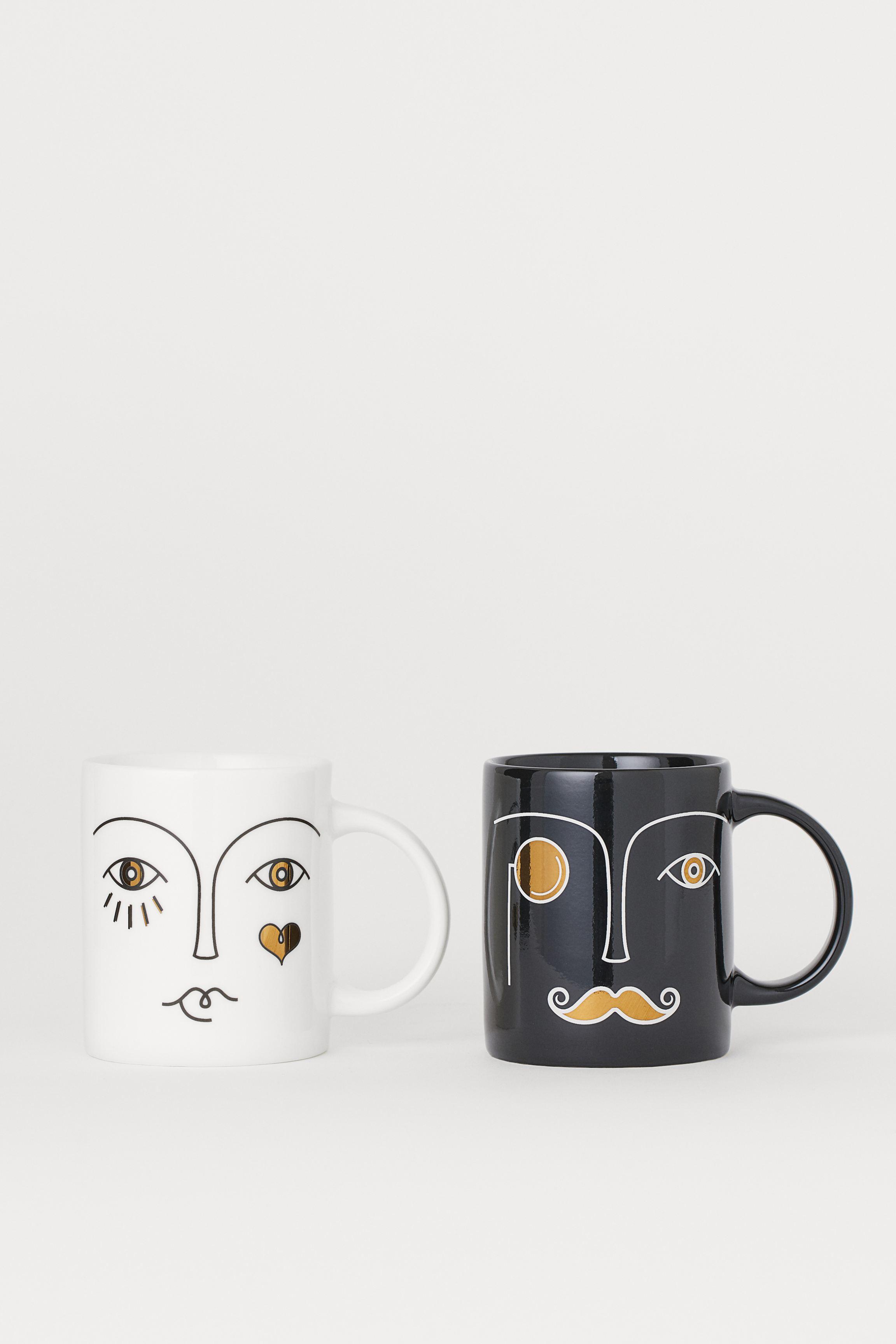 8-pack Porcelain Mugs