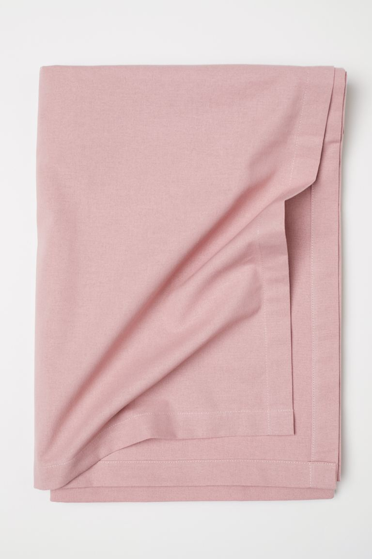 Cotton Tablecloth - Dusty rose - Home All | H&M CA