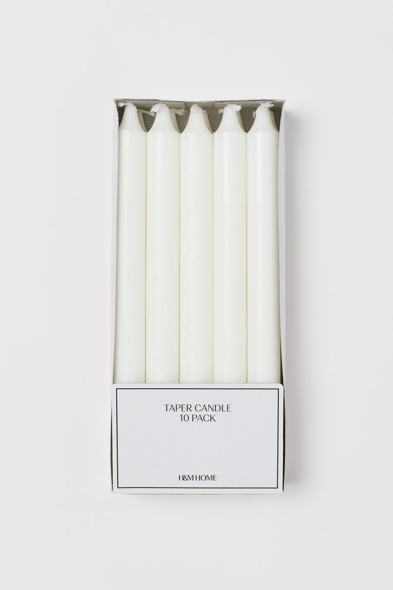 10-pack candles - White - Home All | H&M GB