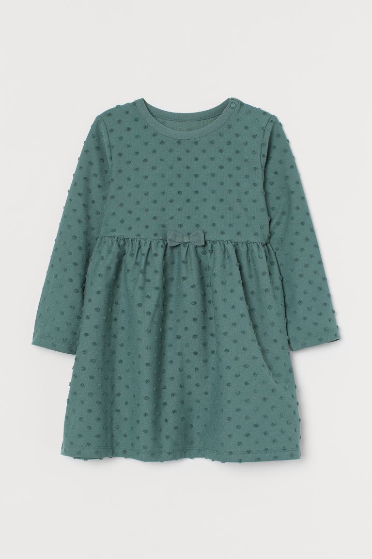 Bow-detail dress - Turquoise - Kids | H&M