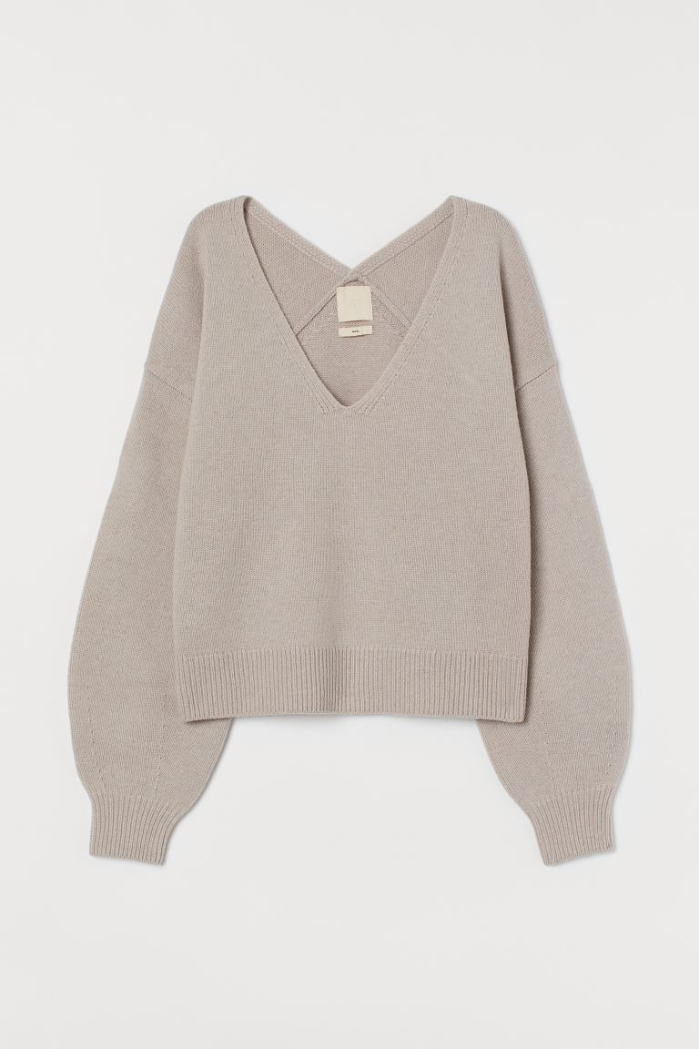 Wollpullover - Greige - Ladies | H&M AT
