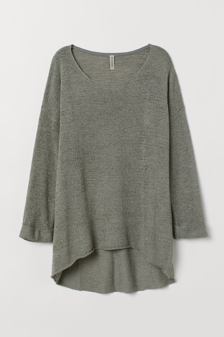 Loose-knit Sweater - Khaki green - Ladies | H&M CA