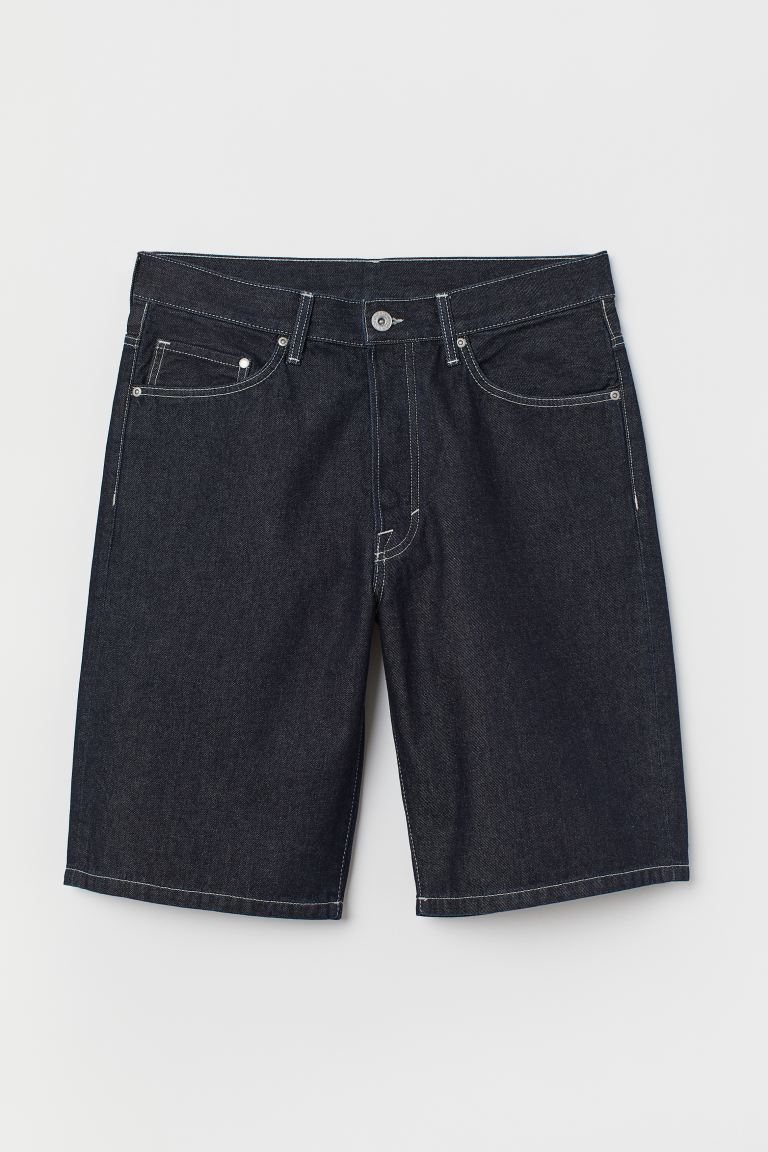Loose Denim shorts - Denim blue - Men | H&M