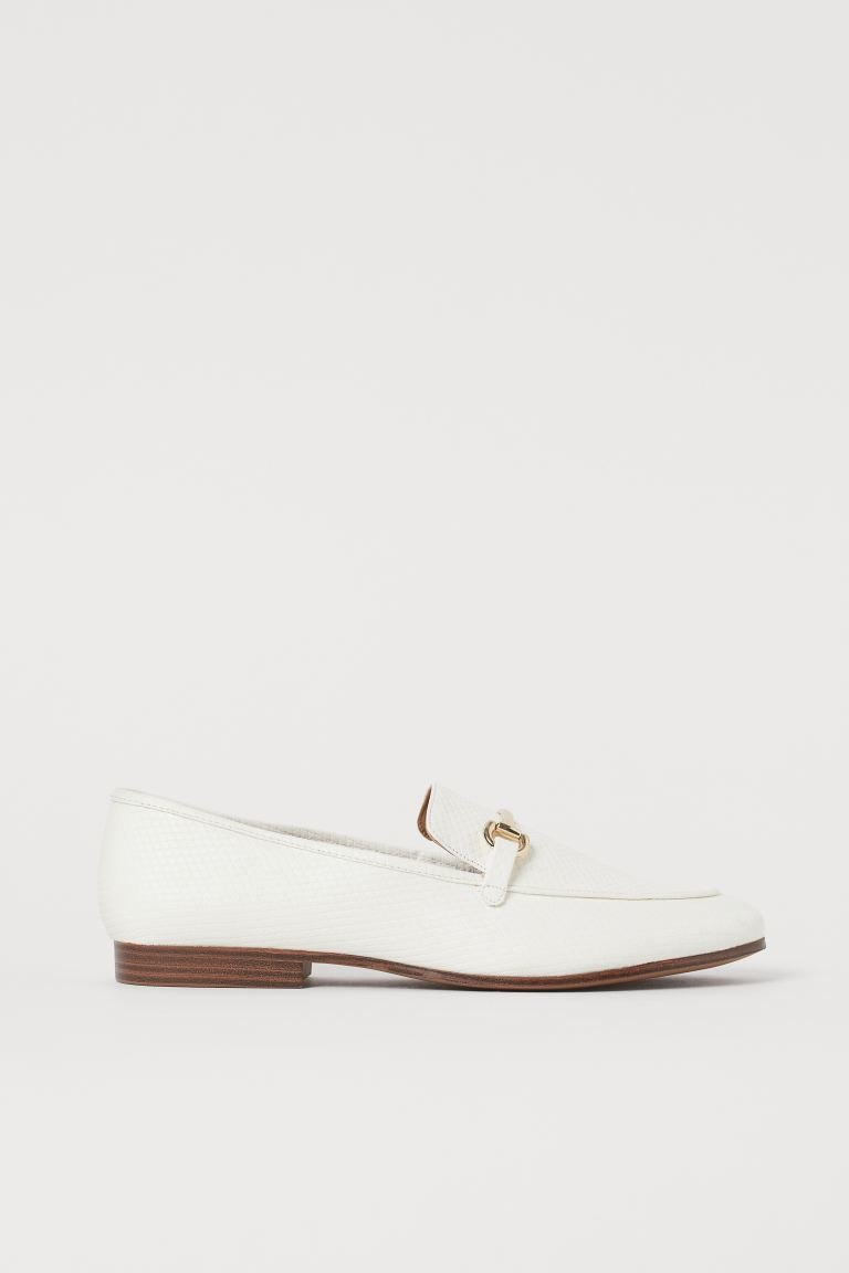 Mocassini - Bianco/motivo coccodrillo - DONNA | H&M IT