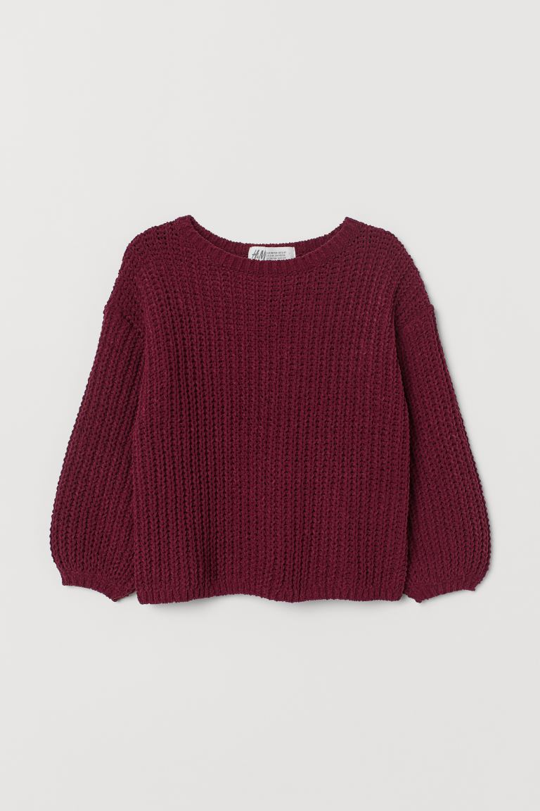 Knitted jumper - Dark red - Kids | H&M