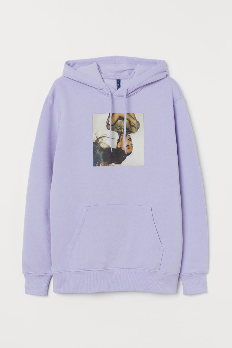 Hooded top - Light purple/Ariana Grande - Men | H&M