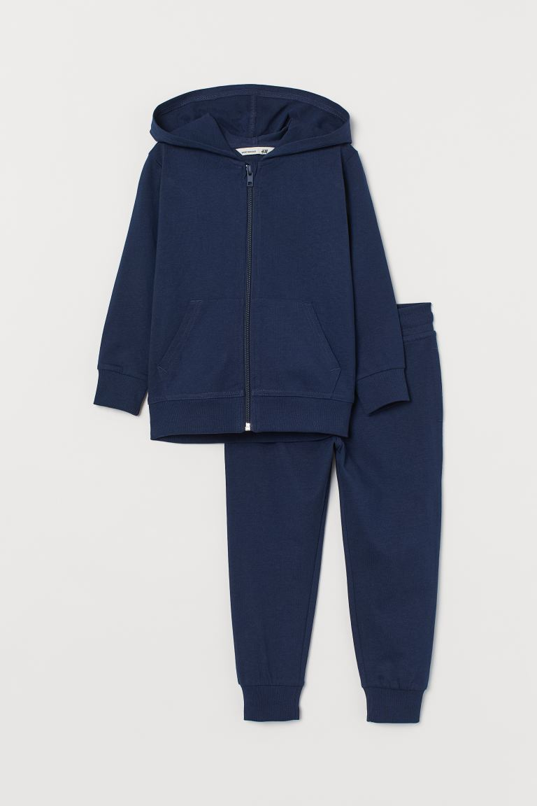 2-piece cotton set - Navy blue - Kids | H&M IE