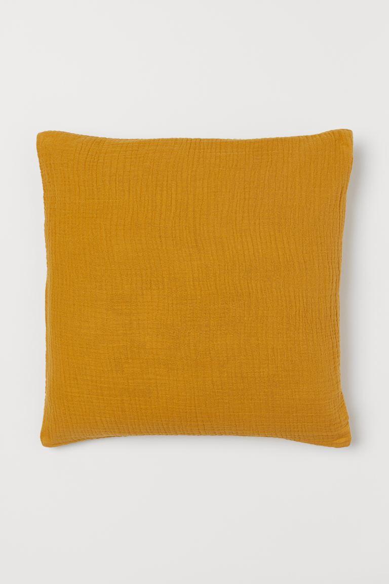 Cotton muslin cushion cover