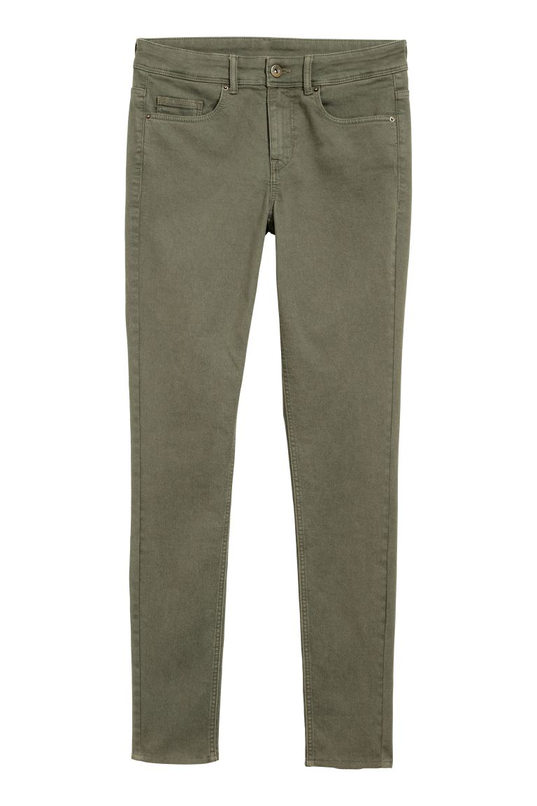 Super Skinny Regular Jeans - Khaki green - Ladies | H&M GB